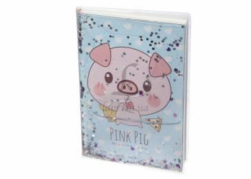 Блокнот with Sparkles and Water Funny Pig - 1