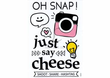 Набір декоративних наклейок Home Decor Just Say Cheese (210x300mm)