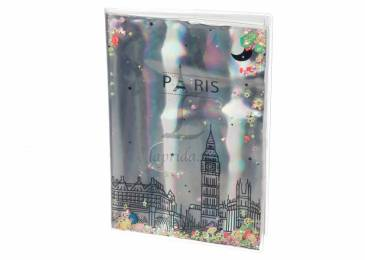 Блокнот Holographiс Paris with Sparkles and Water - 1