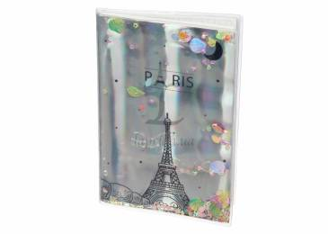 Блокнот Holographiс Paris with Sparkles and Water - 2